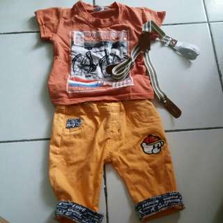 Set baju baby boy 3-12 month