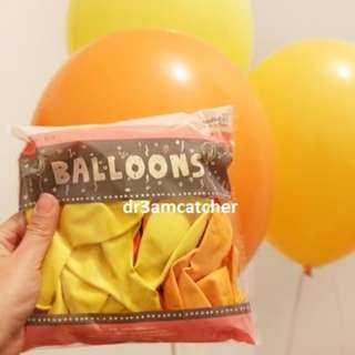 Yellow theme latex balloons