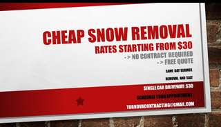 CHEAP SNOW REMOVAL