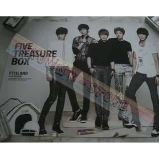 [LAST PC][READY STOCK]FTISLAND F.T ISLAND KOREA OFFICIAL POSTER 1PC SHIP USING TUBE (PRICE NOT INCLUDE POSTAGE)(PLEASE READ DETAILS FOR MORE INFO)