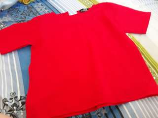 Repriced Preloved Smart casual red top