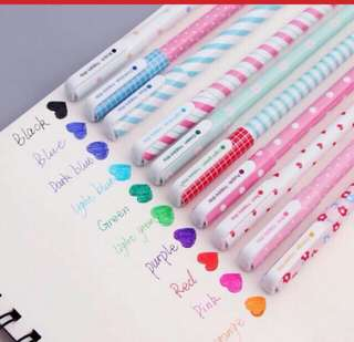 10 pcs. Colored Ballpen