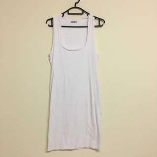 Kookai white scoop neck bodycon dress Sz 2