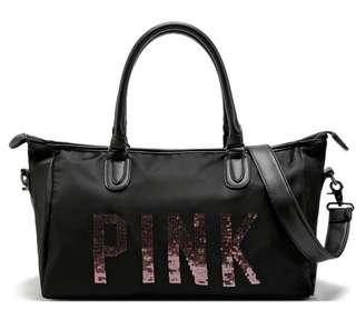 PINK VICTORIA SECRET TRAVEL BAG