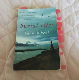 Annotated Burial Rites by Hannah Kent