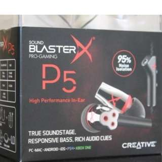 Sound Blaster X P5 in-ear earphones