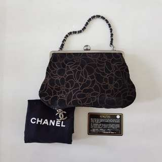 CHANEL CC Camelia VINTAGE Clutch