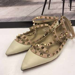 Valentino Rock Stud  Flat Shoes