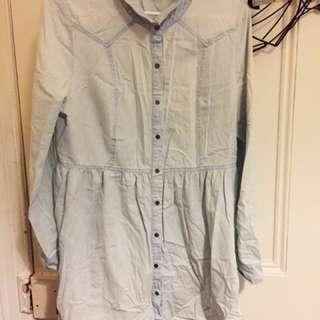 Women's denim look shirt-dress