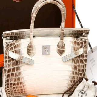 Holy Grail Authentic Hermes Birkin 30 DIAMOND Himalayan phw stamp T