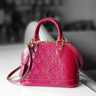 Authentic Louis Vuitton Vernis Alma BB LV