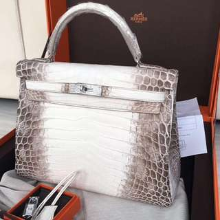 Authentic Hermes Kelly 32 Diamond HIMALayan