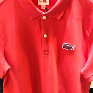 Authentic LACOSTE Polo Tee, nice colour for CNY!!