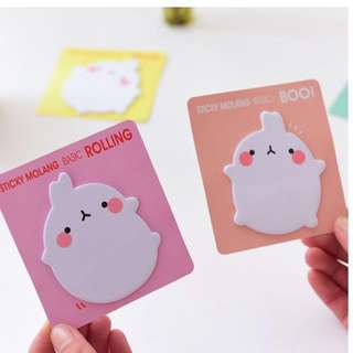 Molang Cute Post-Its/Sticky Notes!