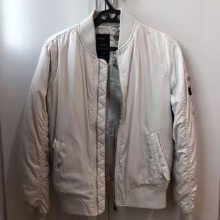 Bershka White Bomber Jacket