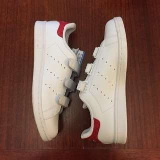 Red & White Stan Smith CF Velcro