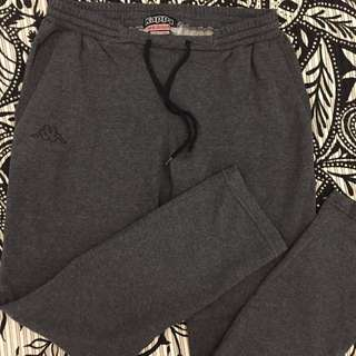 Kappa Grey Fleece Lined Sweatpants - Medium (Men)