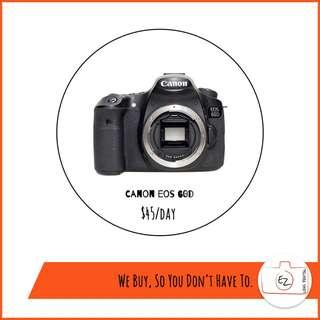 Canon DSLR rental