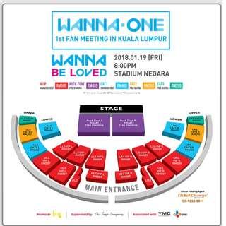 Wanna one fm VIP LL2 (ROW 4)