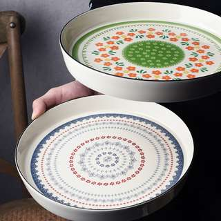 PO American Style Round Baking Dish Plate
