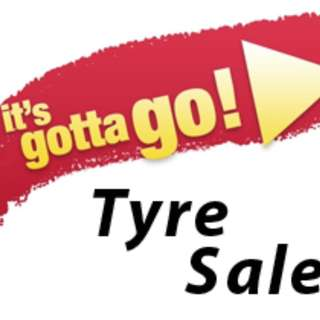 TYRE CLEARANCE SALE! PRICED TO GO! DOM 13-15