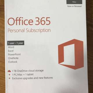 Microsoft Office 365 Personal (1 User - 1 Year)