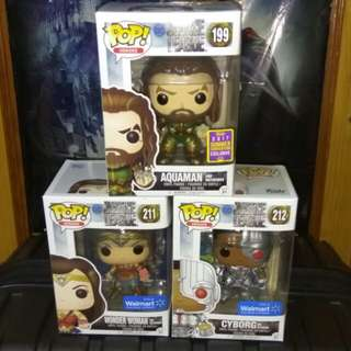 (ON HAND) Justice League MotherBox Exclusives Funko Pop Bundle