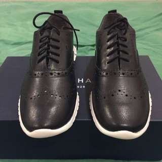 Cole Haan black Leather Zerogrand Wing OXII