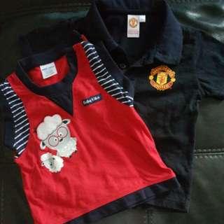 2 pcs baby shirt to letgo