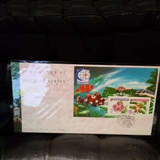 Singapore FDC. Orchid series.