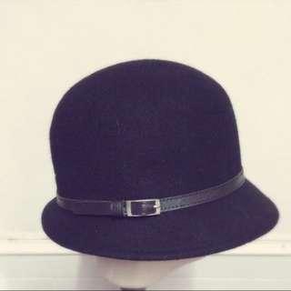 復古羊毛鐘型帽