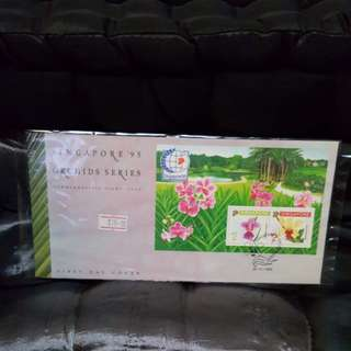 Singapore FDC. Orchid series