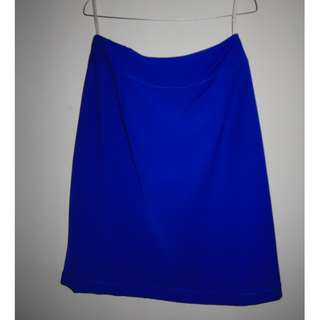 A032 MID LENGTH OFFICE SKIRT ELECTRIC BLUE SIZE EU L