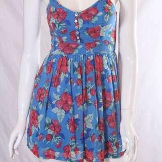 hollister blue foral dress