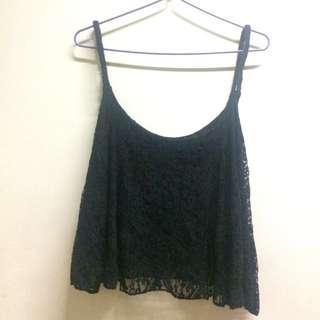 Black Sleeveless Top (With Inner)