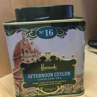 UK Harrods Afternoon Ceylon Loose Leaf Tea 125g 英國茶葉