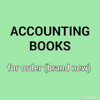 Accounting books (brand new)