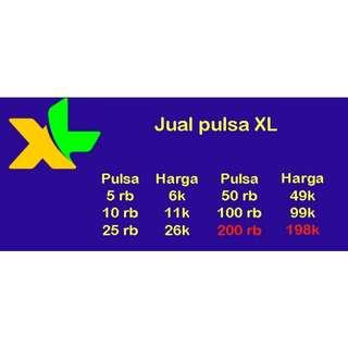 JUAL PULSA XL