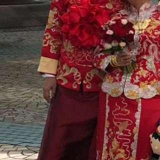 男褂花球 結婚