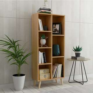 0187/ (5 or 7 shelves) Woody Nordic Style Bookcase