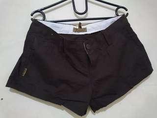 Celana Pendek Hotpants Dark Brown