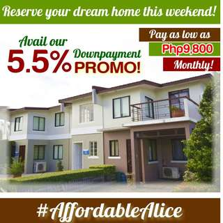 5.5% Downpayment Promo until January 31 only