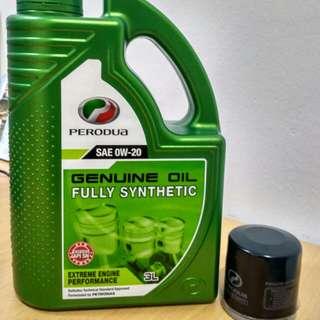 Perodua Minyak Hitam Fully 3L + Oil Filter - Axia