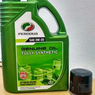 Perodua Minyak Hitam Fully 4L + Oil Filter - Myvi, Alza