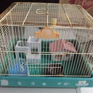 Used hamster cage