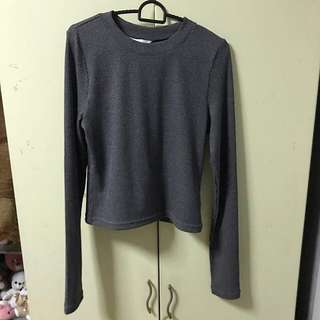 (MAILED)H&M Grey Long Sleeves Top