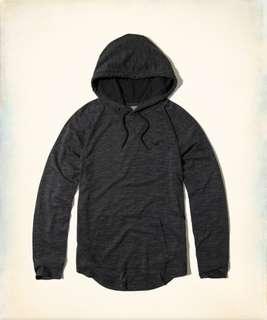 小麥代購全新S/M/L號Hollister hco海鷗 年輕休閒黑色帽T