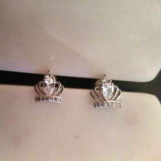 Sterling silver 'Regal Royal' earrings
