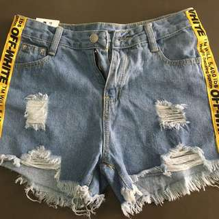 Off White Jeans Short