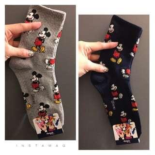 全新韓國製」可愛米奇保暖棉襪